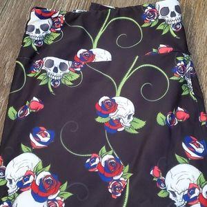 Pants - Skull with rwb roses leggings